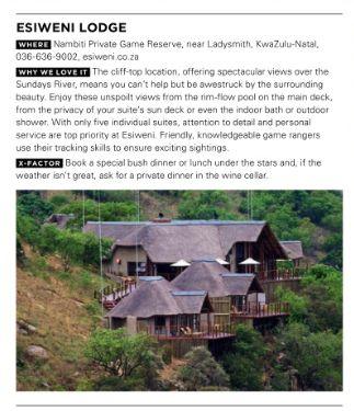 Esiweni Lodge House & Leisure, August 2013