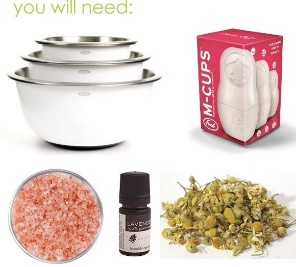 Make your own bath salts tutorial, natural skin care DIY by April of Anointment for OMHG