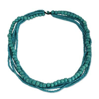 Buy Wood beaded necklace, 'Bayou Dance' today. Shop unique, award-winning Artisan treasures at Unicef UK Market. Each original piece goes through a certification process to guarantee best value and premium quality.