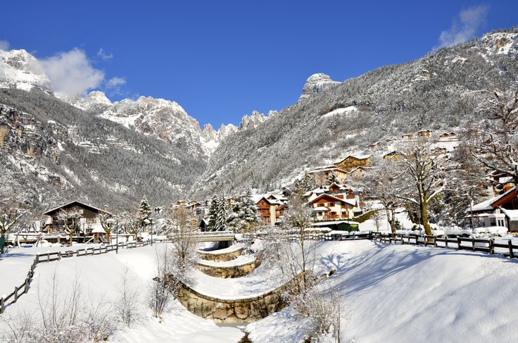 The beautiful Molveno in winter
