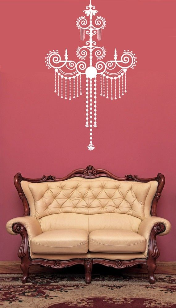Baroque Decorative Chandelier  Vinyl Wall Art by VinylWallAccents, $38.00