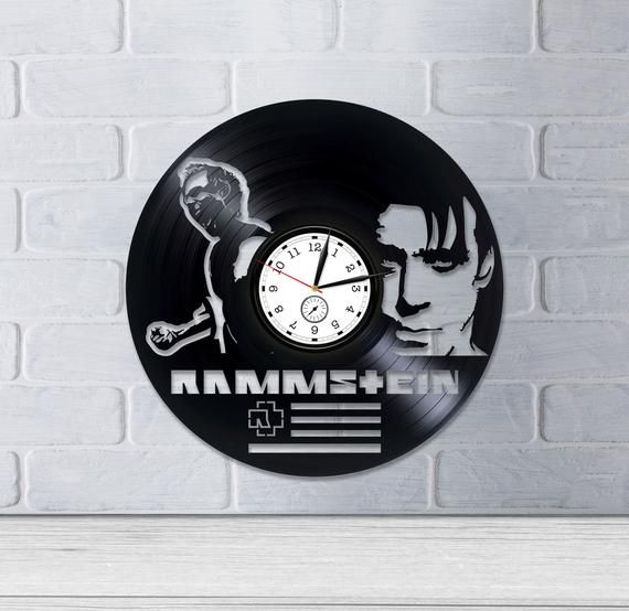 Rammstein Room Wall Art Lp Retro Vinyl Record Wall Clock