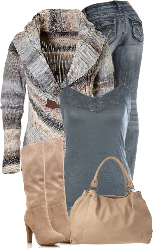 """""""Blue and Beige"""" by denise-schmeltzer on Polyvore"""