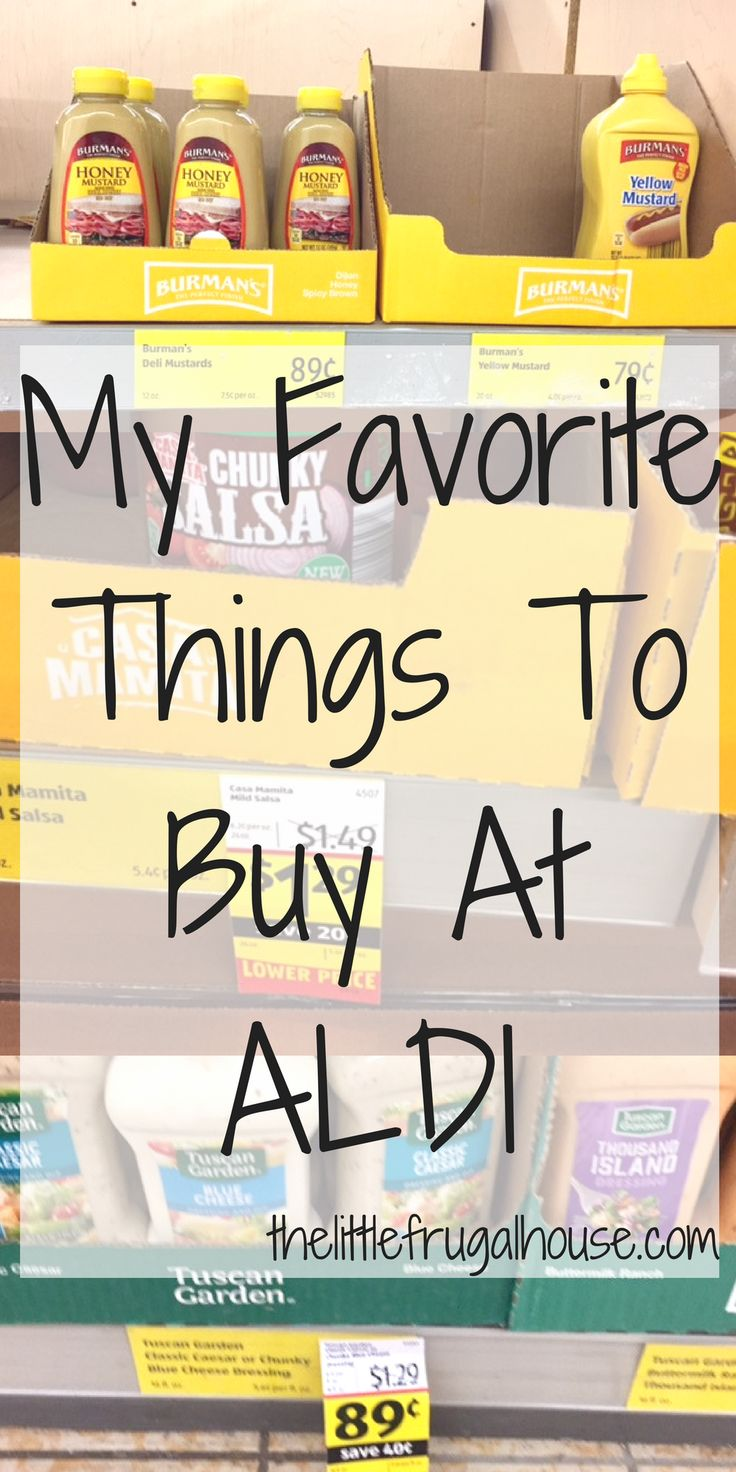 Looking to save money on your grocery bill but no time to coupon? Check out this list of my favorite things to buy at Aldi and see how much you can save!
