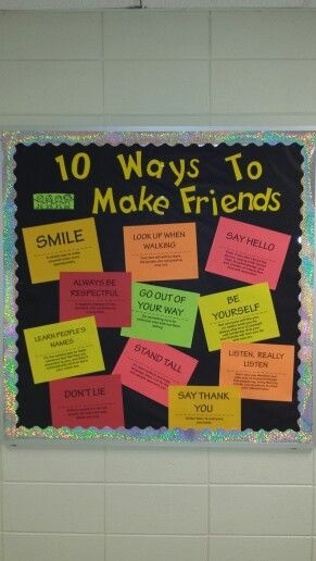 Such a good idea - so many students don't have the social skills to make friends. Good discussion idea for a morning meeting, too.