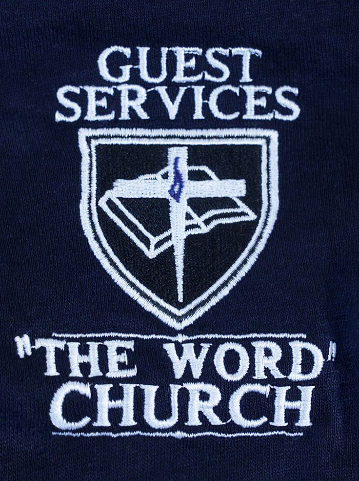 Custom Embroidered Logo From The Word Church!