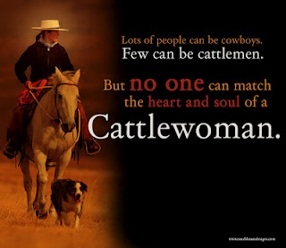 """""""no one can match the heart and soul of a cattlewoman"""" - @Talia Bang @Carol Bang @Val Wagner"""