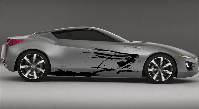 anime custom graphics for cars | Custom Wrap Anime Bleach Design Car Vinyl Graphics 58 - Stickalz