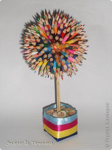 Топиарий из карандашных огрызков 98 карандашей и 385 огрызков !!! фото 1
