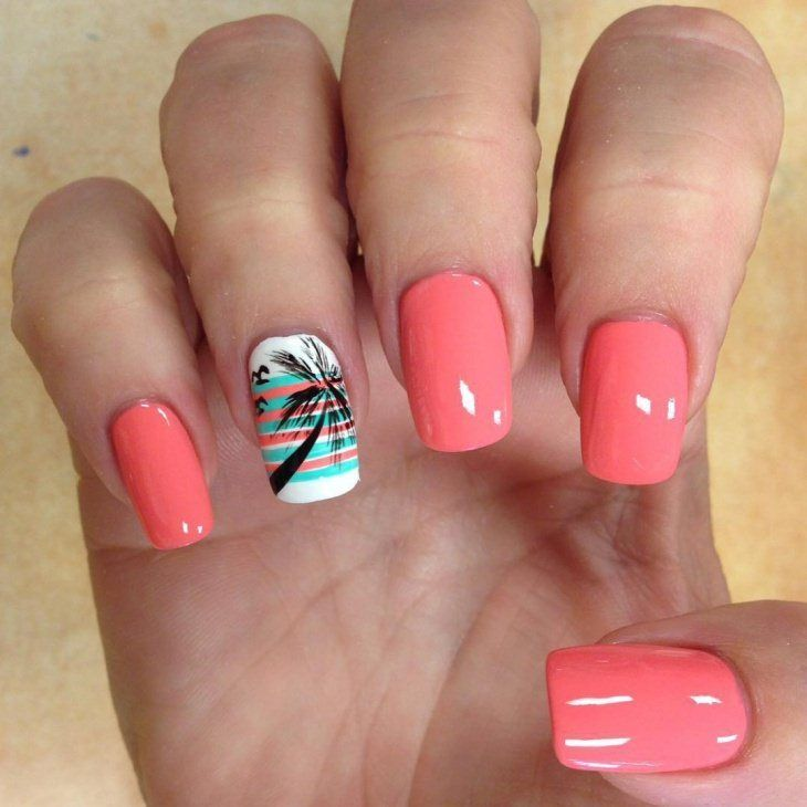Summer 2017 Nail Designs: 1000+ Ideas About Palm Tree Nails On Pinterest