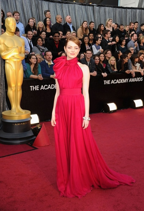 Emma Stone in Giambattista Valli Haute Couture at 2012 Oscars: Style, Giambattista Valli, Oscars 2012, Emma Stone, Dresses, Red Carpet, Academy Awards, Stones
