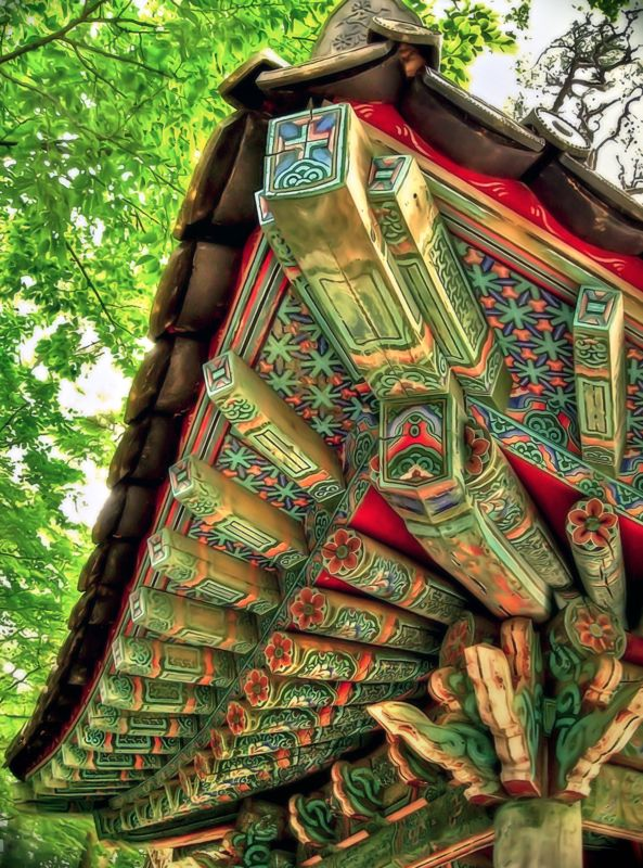 Korean Temple ceiling. You just can't beat genuine historical architecture