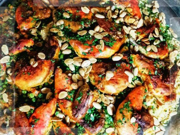 أوزي الدجاج من وصفات منى Recipes Food Vegetable Pizza