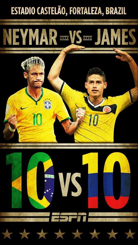 Neymar vs James.jpg #brazil #colombia #worldcup2014 #quarterfinal