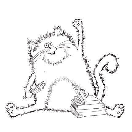 Splat the Cat coloring page | Coloring Pages | Pinterest ...