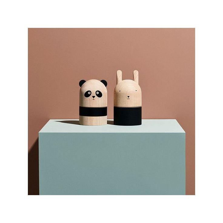 Craquez pour la tirelire design panda en bois massif OyOy !