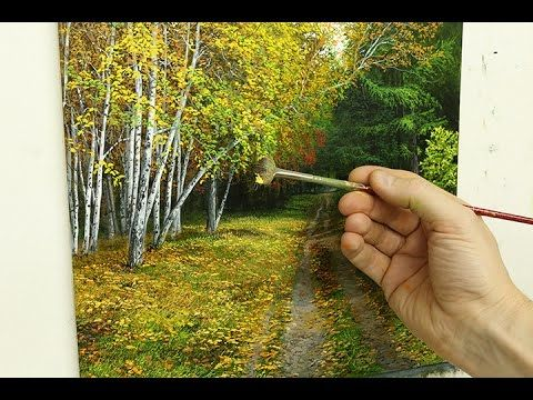 #73 How to Paint Silver Birch trees III | Michael James Smith