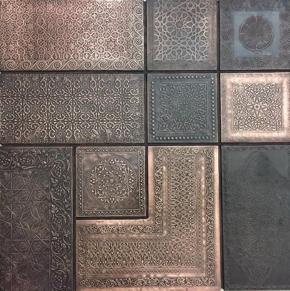 Wall Panel Moroccan Combo Copper Brass Silver Etsy In 2020 Wall Paneling Moroccan Interiors Paneling