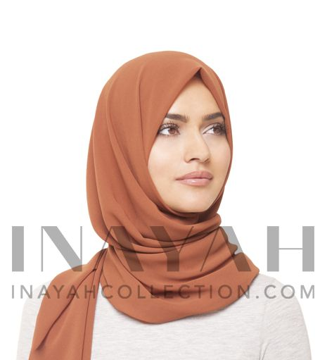 Rust Crepe Hijab - Made from soft crepe fabric, allowing you to create various hijab styles ideal for any occasion http://www.inayahcollection.com/rust-crepe-hijab-p-1287.html