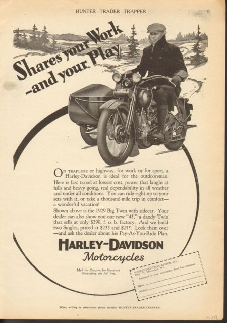 Hd 1929 jpg seitenwagen pinterest sidecar and harley for Harley davidson motor company group inc