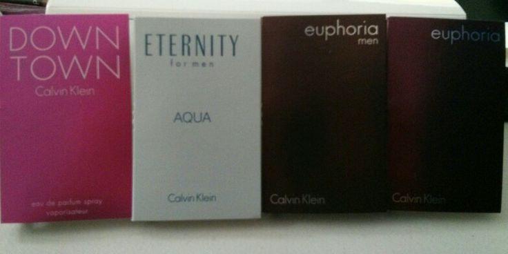 Calvin Klein perfume samples each .04 fl oz