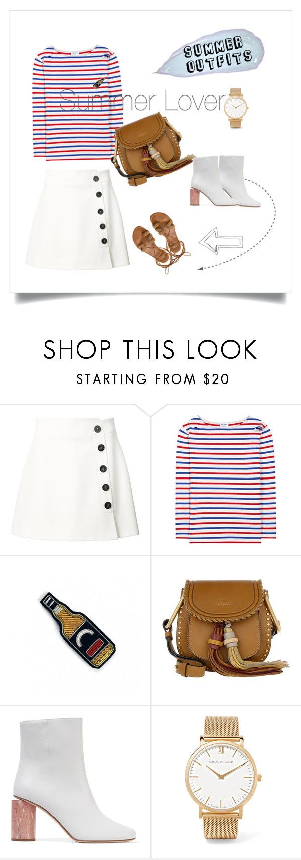 """Summer Lover!"" by yvetteyang1 on Polyvore featuring Misha Nonoo, Yves Saint Laurent, Macon & Lesquoy, Chloé, Acne Studios, Larsson & Jennings, Stuart Weitzman, ootd, summerstyle and summeroutfits"