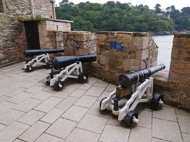 Dartmouth Castle - its guns facing out to sea to repel enemies and pirates.