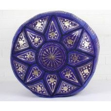 We have solid colour Fez Star poufs as well.. This one in blue.   Just $169.00  NZD  www.moroccansunset.co.nz