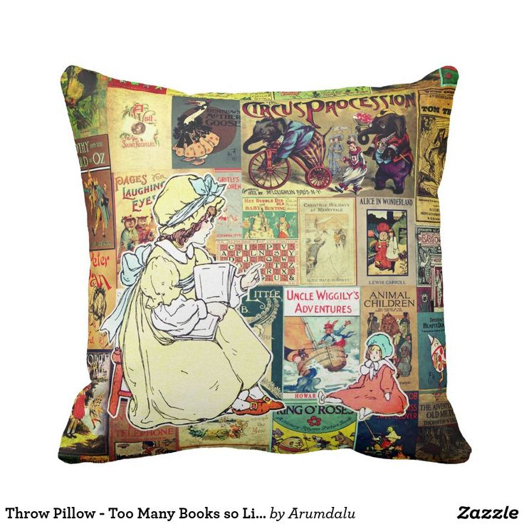 Throw Pillow - Too Many Books so Little Time
