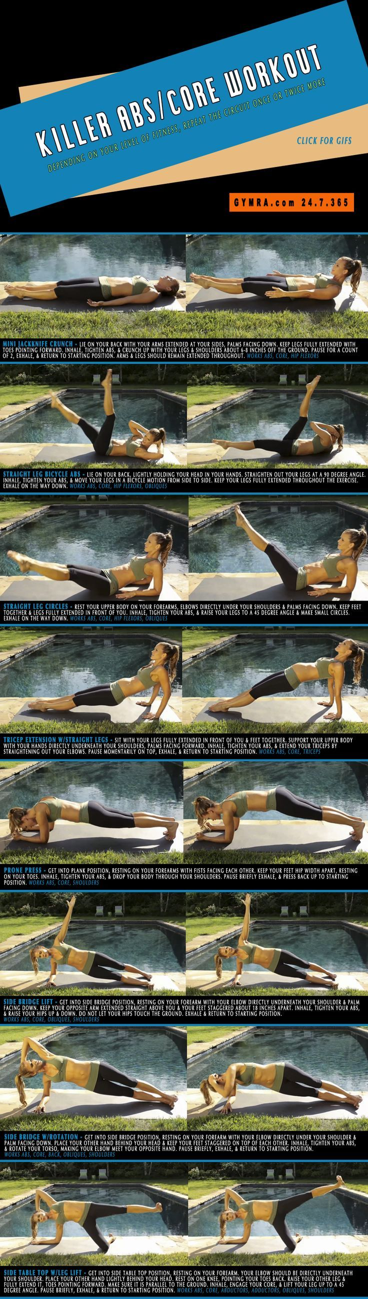 Fat Burning Ab Exercises. Burn fat and slim down while toning up your abs and strengthening your core. Repeat the circuit once or twice more.