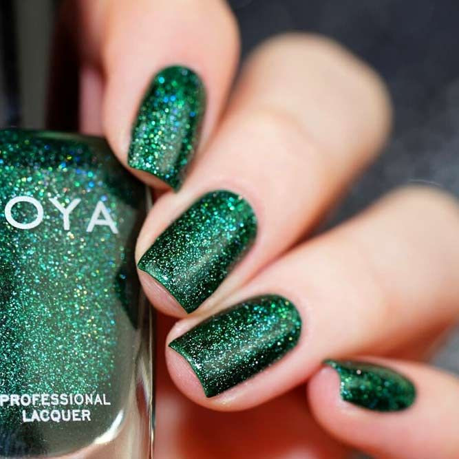 Joyous Emerald Green Nails To Intrigue Naildesignsjournal Com Green Nails Green Nail Art Green Nail Designs