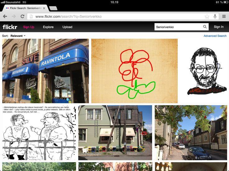 Flickr-kuvapalvelussa mm. taidetta ja pilakuvia.