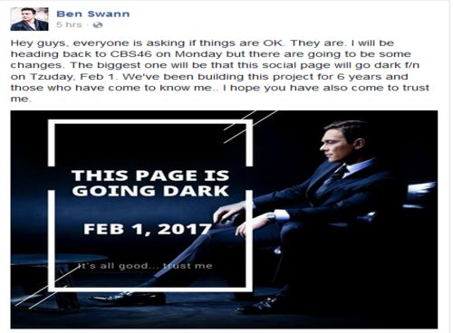 "Ben Swann Warns He Is Going To ""Go Dark"" On February 1st"