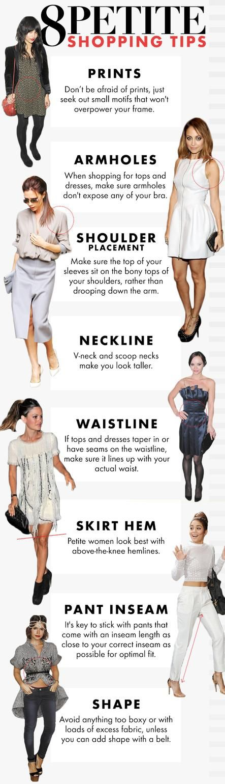 How To Shop For Petite Clothes. FYI, petite in fashion and clothing is 5'3 and under.