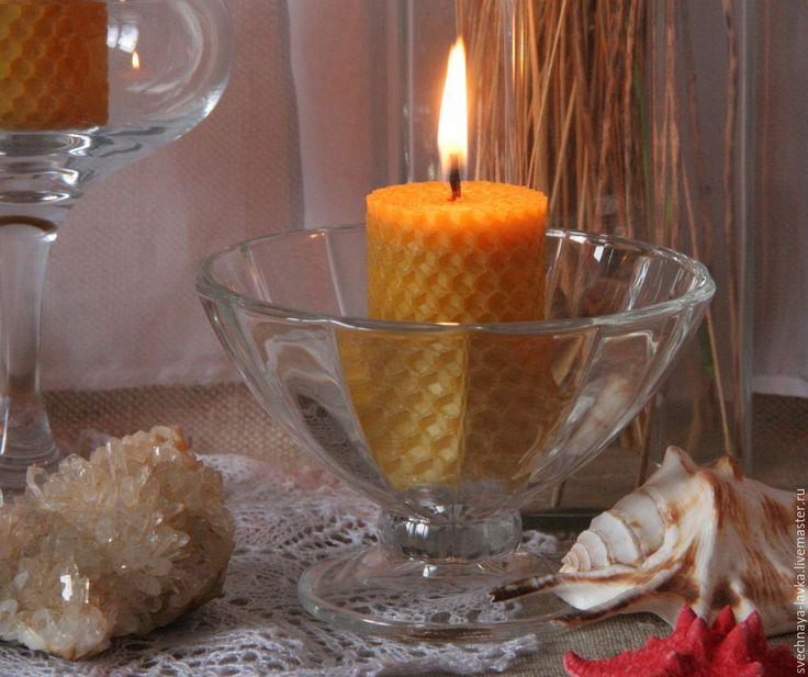 """Купить Восковая свеча """"бочечка"""" - любовь, Свечи, огонь, свечка, пчелиный воск"""