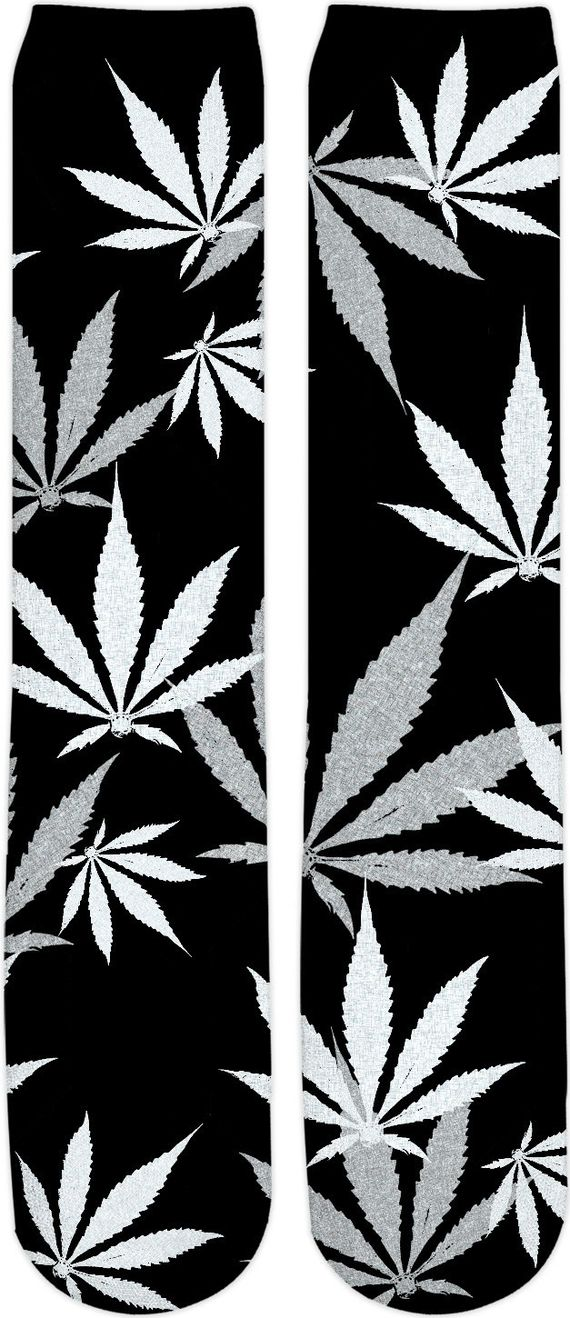 Smoke weed every day! Ganja, cannabis leafs pattern, black and white Knee High Socks - item printed by RageOn.comProduction Time: 7-10 business daysShipping:USA: 4-10 busin... #hot #cool #stylish #sexy #unique