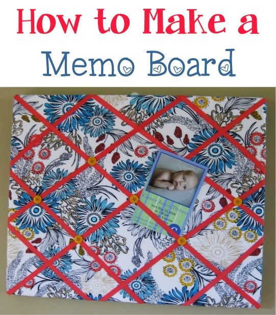 """DIY Memo Board  