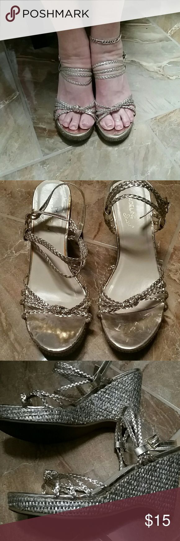 Gold wedge heels Super cute and comfy gold wedge heels Madeline Stuart Shoes Wedges