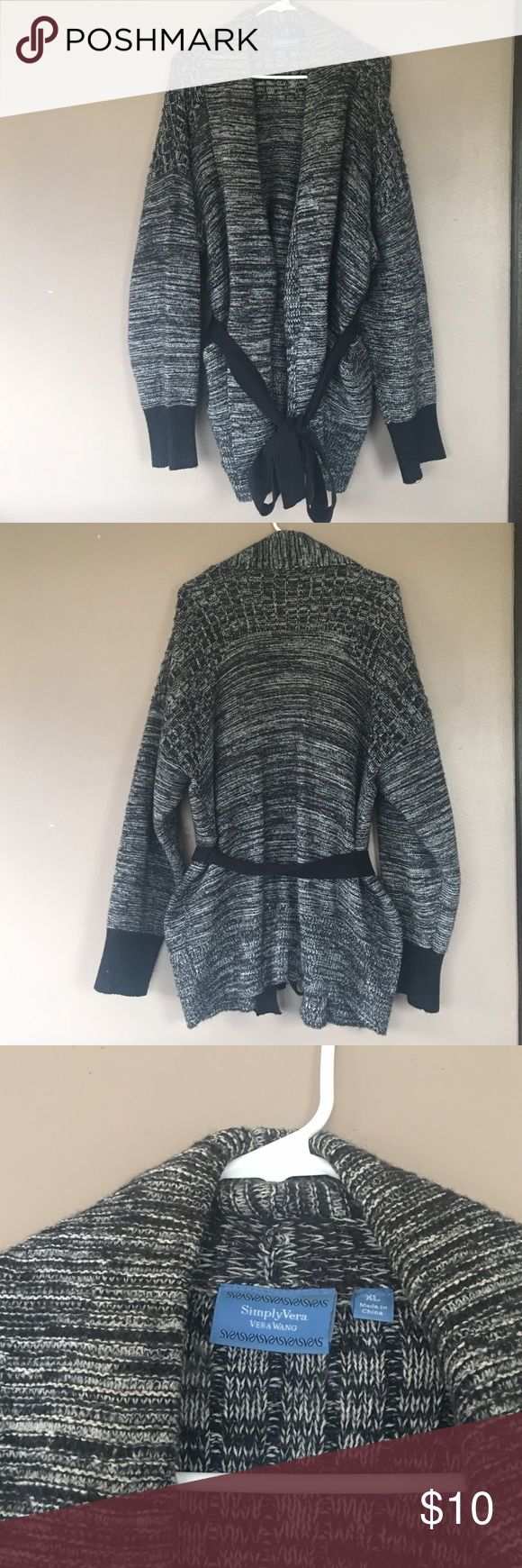 Simply Vera by Vera Wang Sweater Simply Vera by Vera Wang Sweater. Tie around closure or can be tied in the back. Two front pockets. Worn but still in good condition. No stains or holes. Simply Vera Vera Wang Sweaters Cardigans