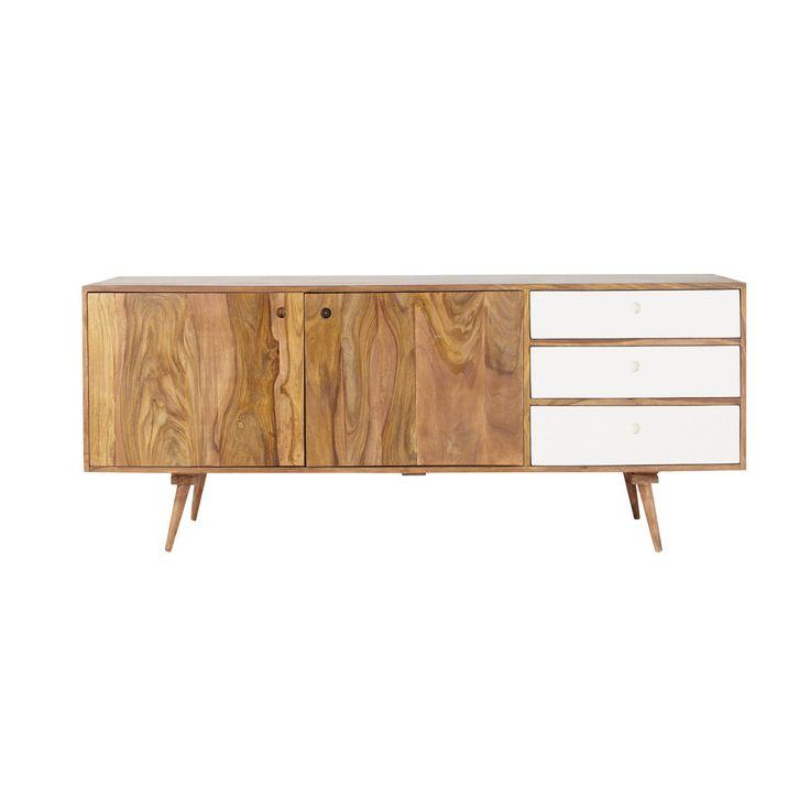 Credenza bassa lunga vintage in legno di sheesham L 177 cm Andersen - Maison du Monde