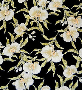 Kalaheo Hawaii Aloha Hawaiian Shirt Size XL, Black Green White Orchid Print EUC!