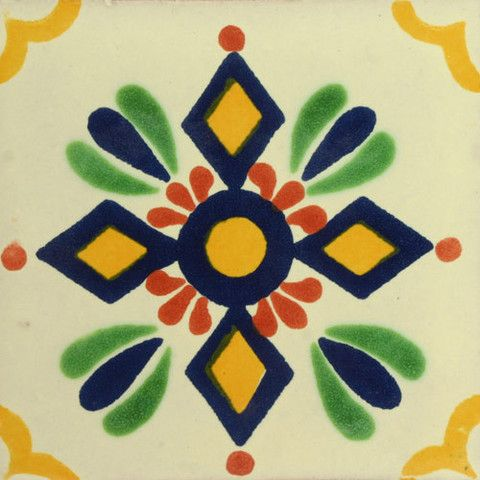 Traditional Mexican Tile - Zapopan - Mexican Tile Designs  http://www.mexicantiledesigns.com/pages/tile-collections