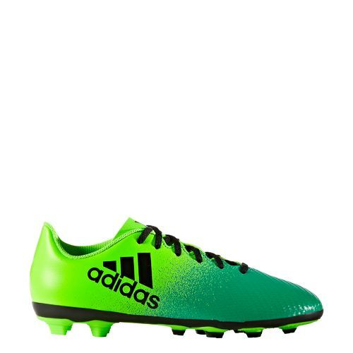 Adidas Boys' X 16.4 FxG Soccer Cleats (Green Bright/Black, Size 1) - Youth Soccer Shoes at Academy Sports
