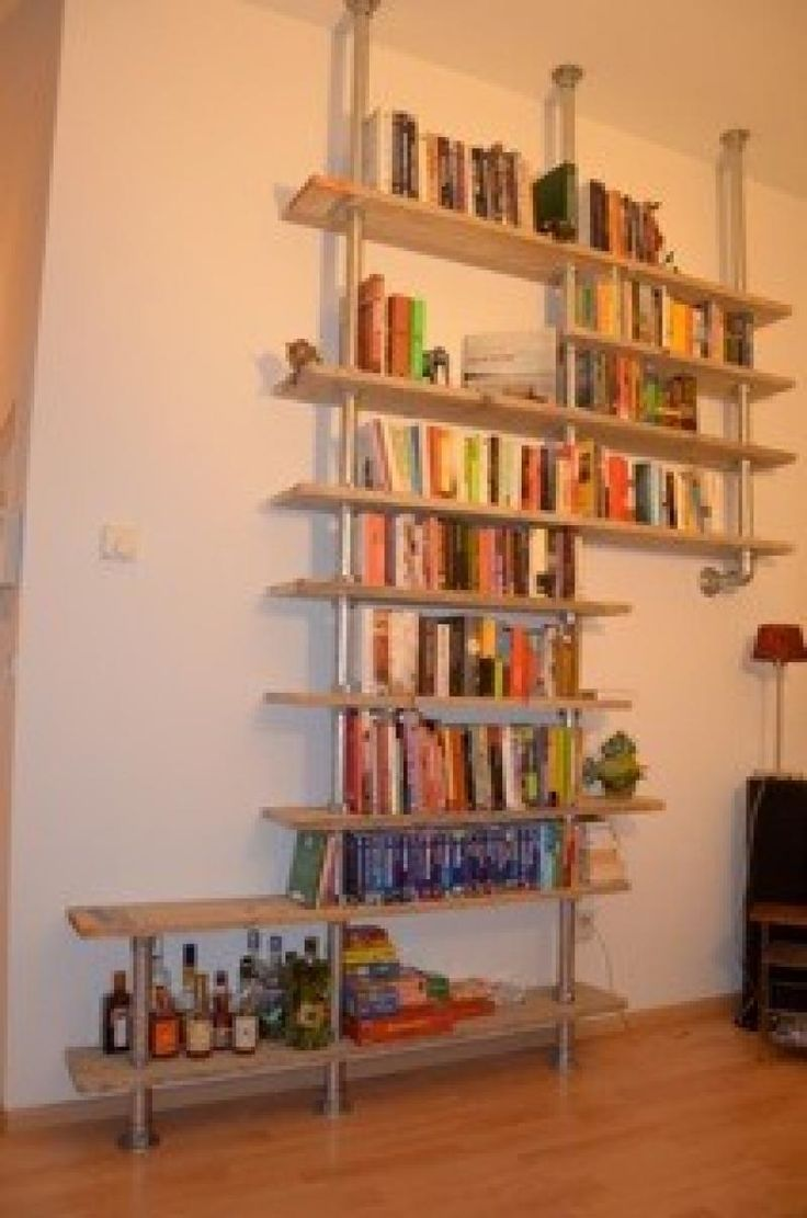 Floating pipe shelves #KeeKlamp | Industrial Pipe Shelves | Pinterest | Pipes, Shelves and ...