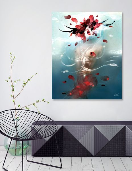 Discover «BREATHE», Exclusive Edition Canvas Print by VALENTINA BROSTEAN - From 55€ - Curioos