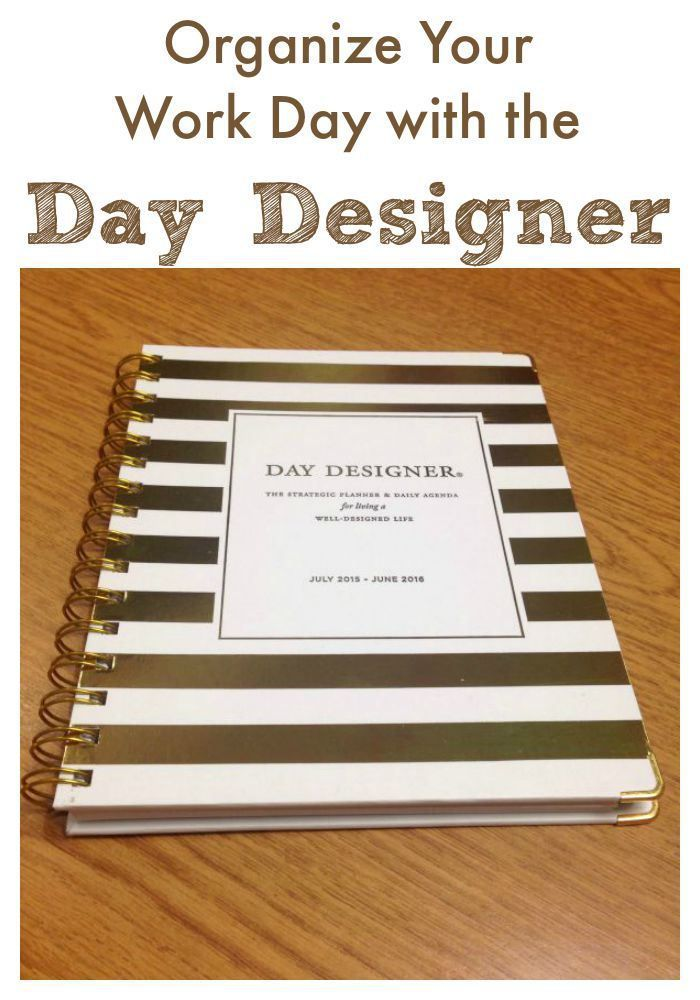 Organize Your Work Day with the Day Designer Planner