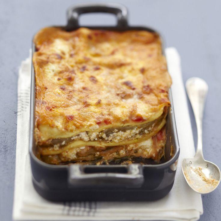 Découvrez la recette des lasagnes aux aubergines légères express