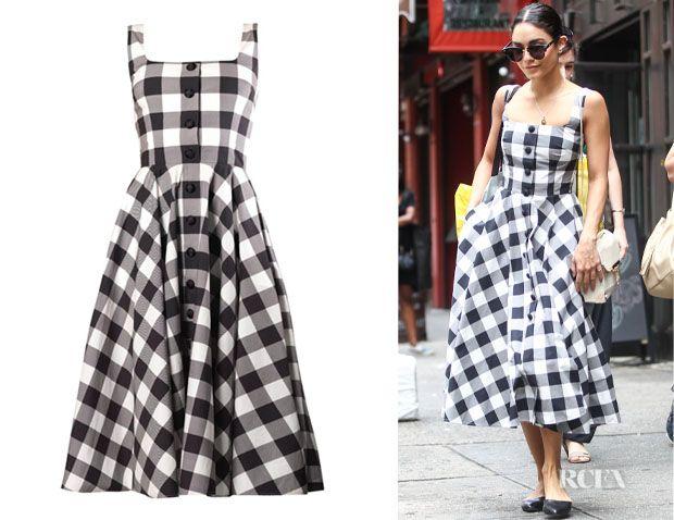 Vanessa Hudgens' Dolce & Gabbana 'Vichy' Gingham Dress
