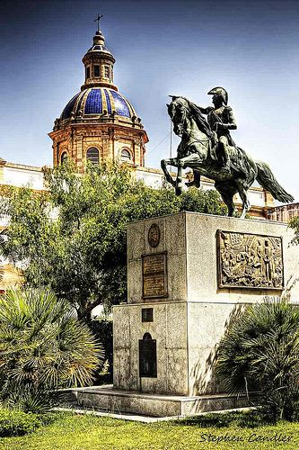 Horse statue in a park, Cadiz, Spain