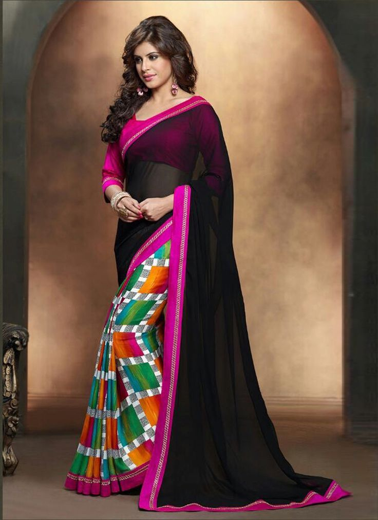 http://www.sareesaga.in/index.php?route=product/product&product_id=15620 Style	:	 Casual	 Shipping Time	:	10 to 12 Days Occasion	:	Party Festival Casual	 Fabric	:	Satin Georgette Colour	:	Black	 Work	:	Print Lace For Inquiry Or Any Query Related To Product,  Contact :- +91 9825192886